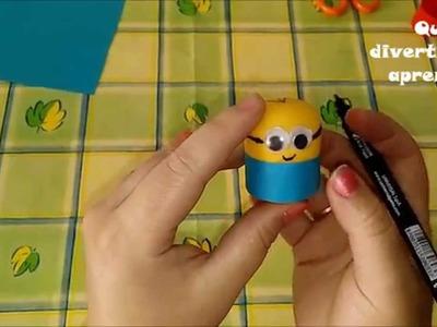 Que divertido es aprender haciendo Minions.niños.manualidades.juguetes