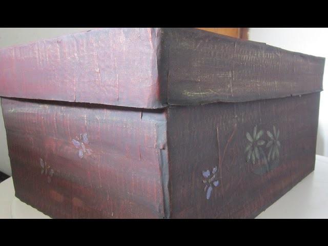 Recicla y decora una Caja de Cartón - Recycling cardboard box
