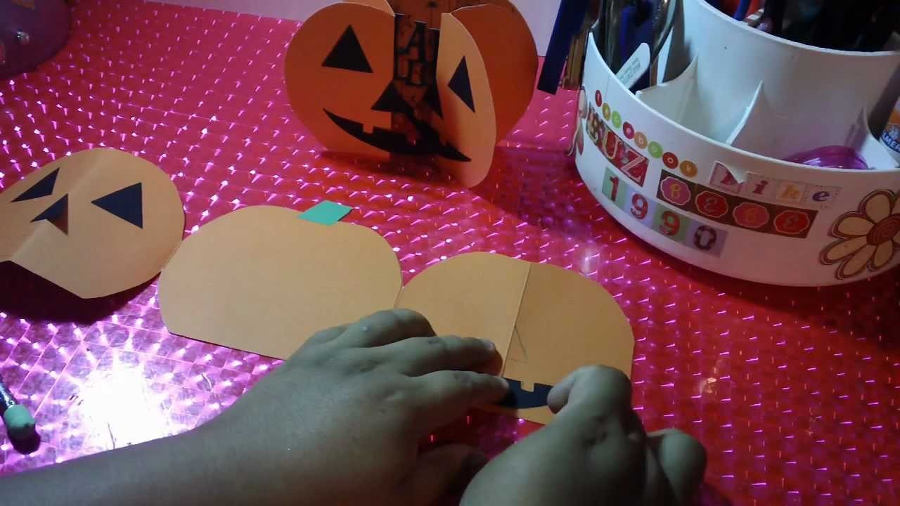 TARJETA*INVITACION para HALLOWEEN calabaza POP OPEN ORIGINAL