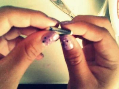 Tutorial: Como hacer mini-libros para un brazalete.
