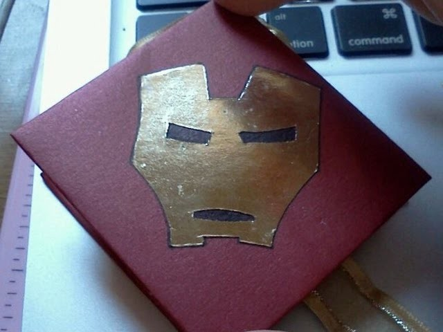 TUTORIAL Regalos para Iron man3:Iron man3 gifts Carta squash