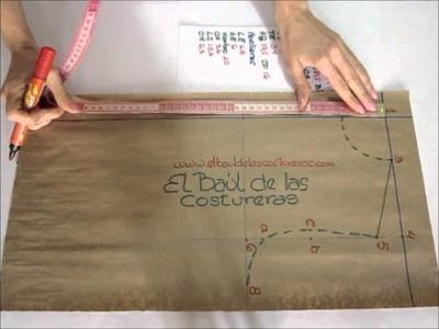 Vestido huasa chinita de Chile. Primera parte. Cuerpo superior. Delantero y espalda