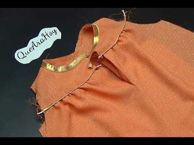 Alta Costura para NIÑOS  Clase # 12  Unión de falda al canesu trasero
