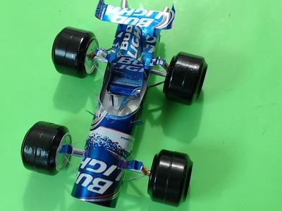AUTO DE CARRERAS hecho con latas de refresco tutorial capitulo 1
