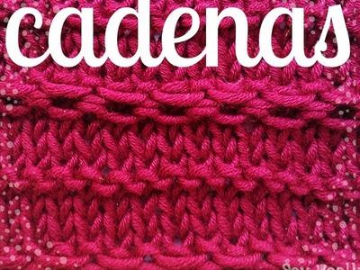 Cadenas y eslabones: cómo se tejen sin aguja auxiliar - Soy Woolly