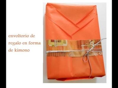 Como envolver de manera original un regalo con forma de KIMONO