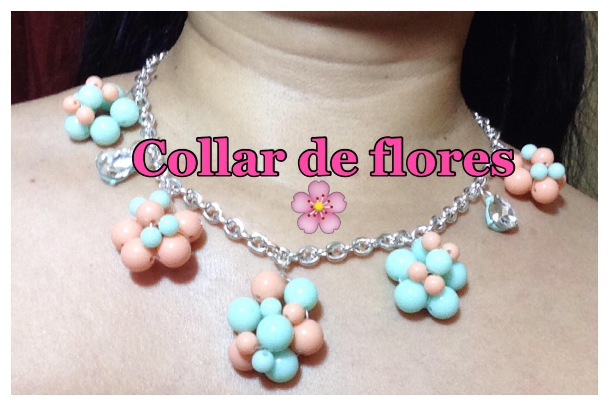 Como Hacer Collar de Flores Primavera
