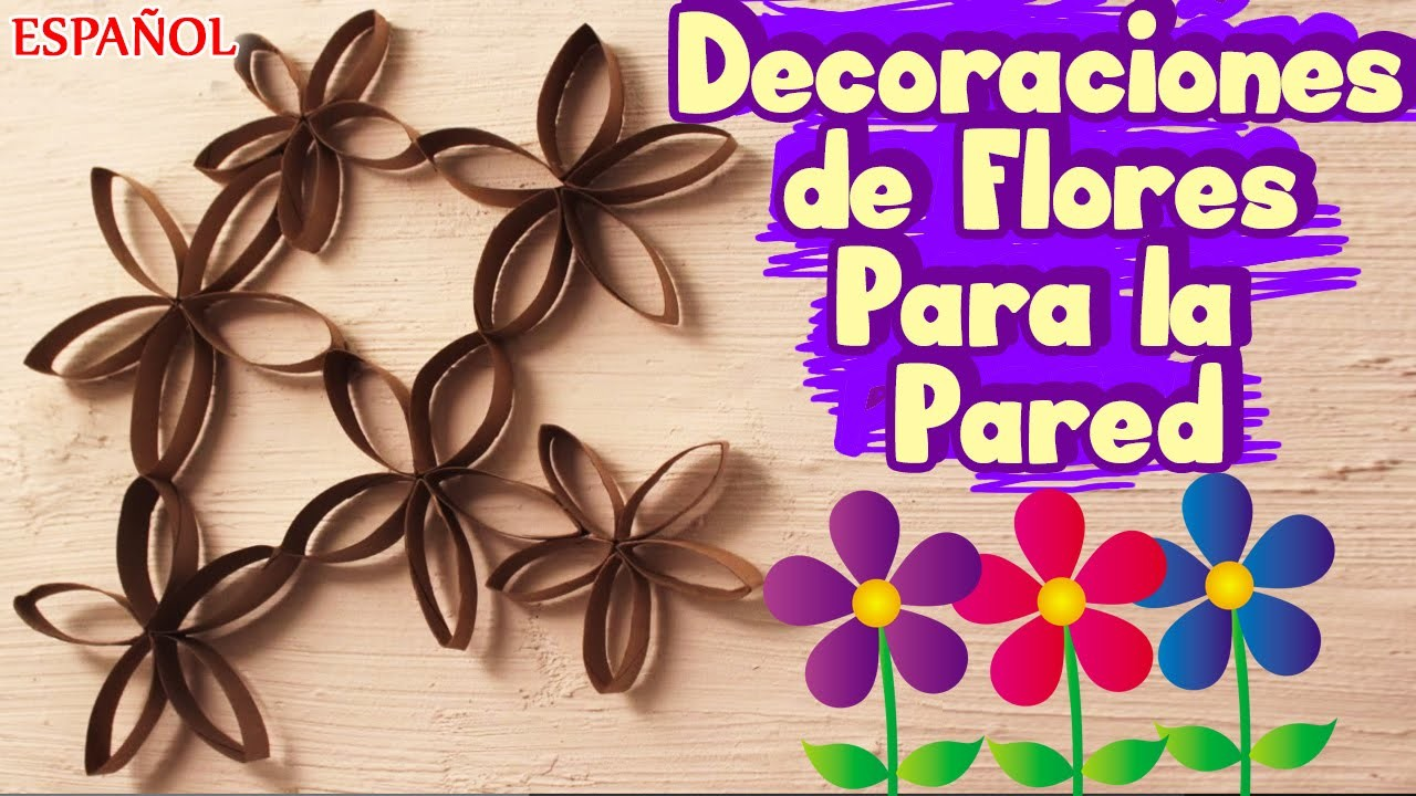 Cómo Hacer Decoraciones Bonitos Para la Pared Fácil | Flower Wall Art | Spanish – How to Videos