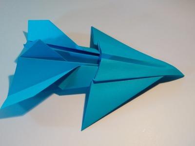 Como hacer un avión de papel jet fighter