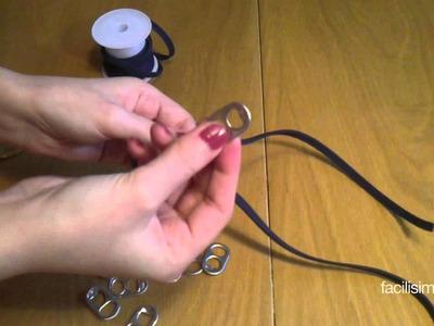 Cómo hacer una pulsera con chapas de refrescos | facilisimo.com