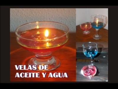 COMO HACER VELAS DE ACEITE Y AGUA