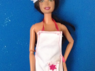 COMO HACER VESTUARIO DE CHEF PARA MUÑECAS BARBIE.HOW TO DRESS FOR DOLLS CHEF