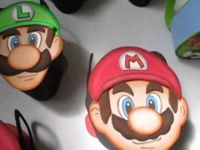 Cotillones Mario ,luigi y pitufo - creacion de Cocotikos