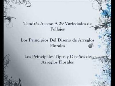 Curso Como Hacer Arreglos Florales. Monte Su Propia Floristeria Sea Un Florista Profesional