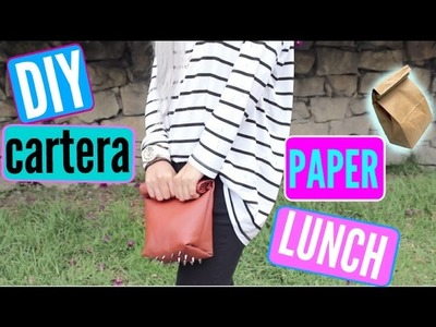 DIY cartera paper lunch. Concurso!