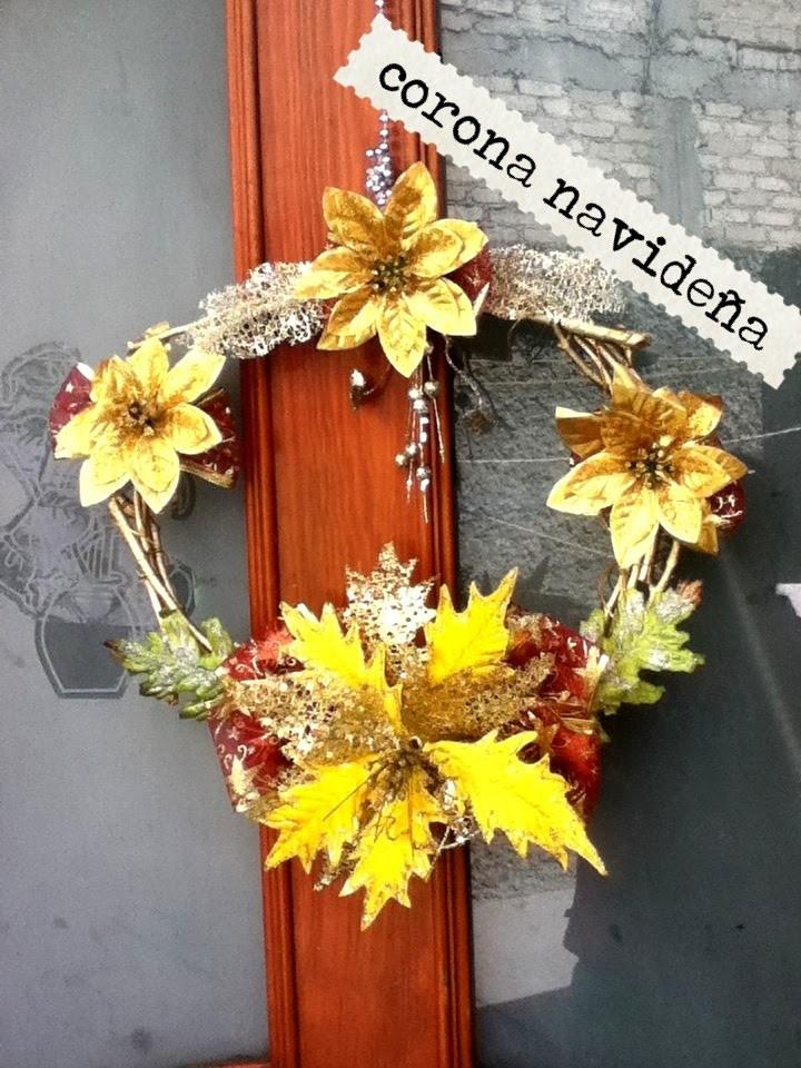 DIY Corona Navideña ramas secas elegante Christmas wreath