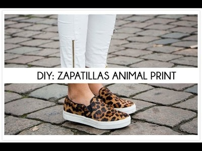 DIY customiza unas zapatillas animal print