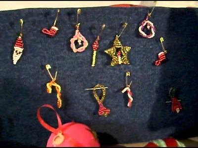DIY Manualidades navideñas, Figuras chaquira, arbolitos navidad.