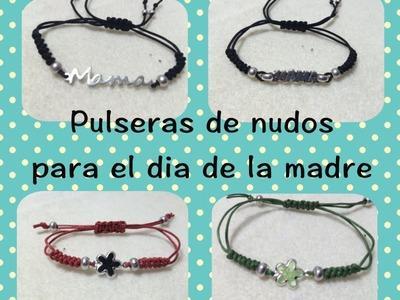 DIY Pulsera de nudos estilo tous regalo dia de la madre friendship-bracelet pulsera amistad