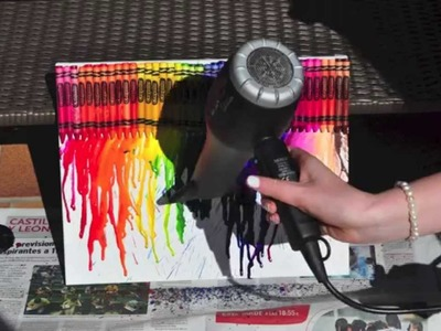 HOW TO: Melted Crayon Art (DIY) En Español