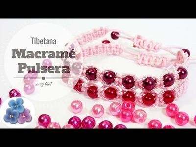Macrame: Pulsera Tibetana Como Hacer Pulseras de hilo Facil Tutorial Pulsera Macrame Pintura Facil