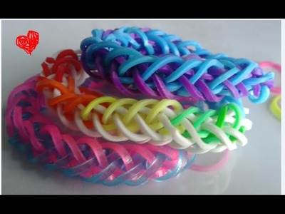 NUEVO French Braid  Monster Tail Bracelet Tutorial como hacer pulseras de ligas