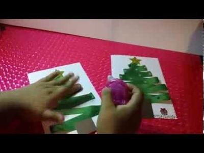 Postal Navidad GRATIS y fáciles de hacer Manualidades navideñas