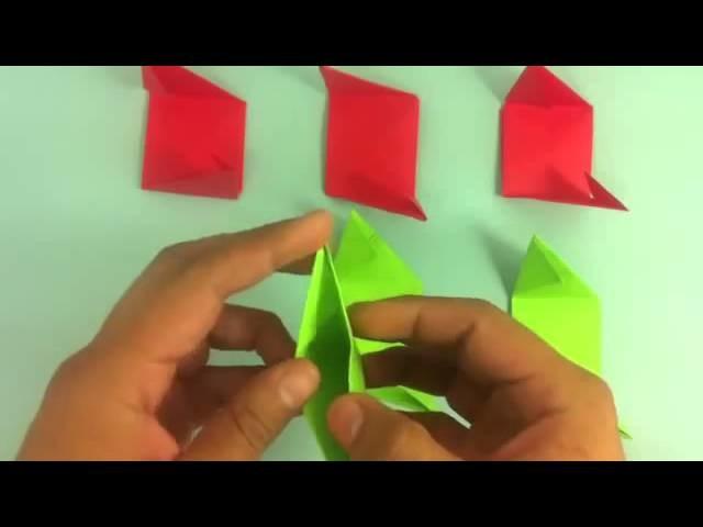 Rosa de origami - Flor de papel