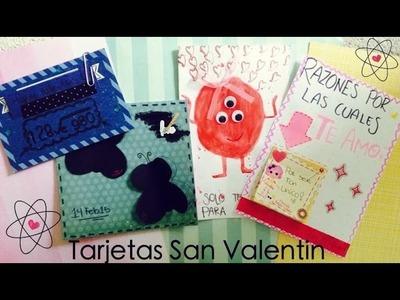 SAN VALENTIN ♥ 8 TUTORIALES fáciles • Decora tu tarjetas para NOVIO Y AMIGAS ♥ PARTE 1