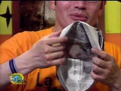 Sombrero en periodico (D.R.A)