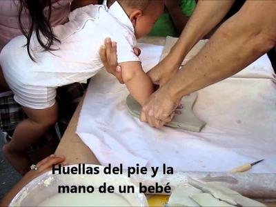 Taller de huellas de bebé, niños y no tan niños en cerámica