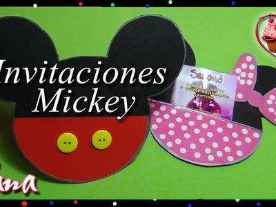 Tarjeta Invitación Mickey Mouse - Yana