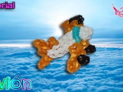 ♥ Tutorial: Avión de gomitas (sin telar) ♥