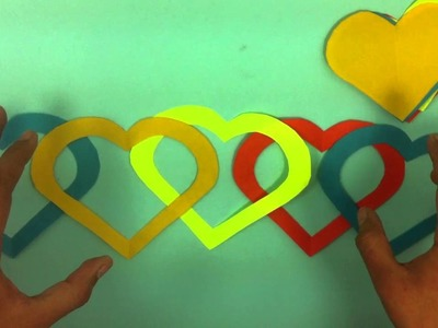 Adorno en forma de corazón de papel - Ideas para San Valentín