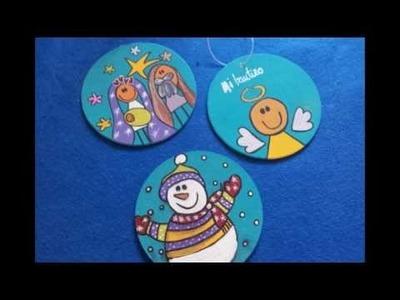 Adornos para arbolito de navidad - Posa vasos navideño - Manualidades para niños - ChispiKids