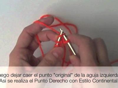 Agujas Circulares con Estilo Continental. Circular Needles Continental Method