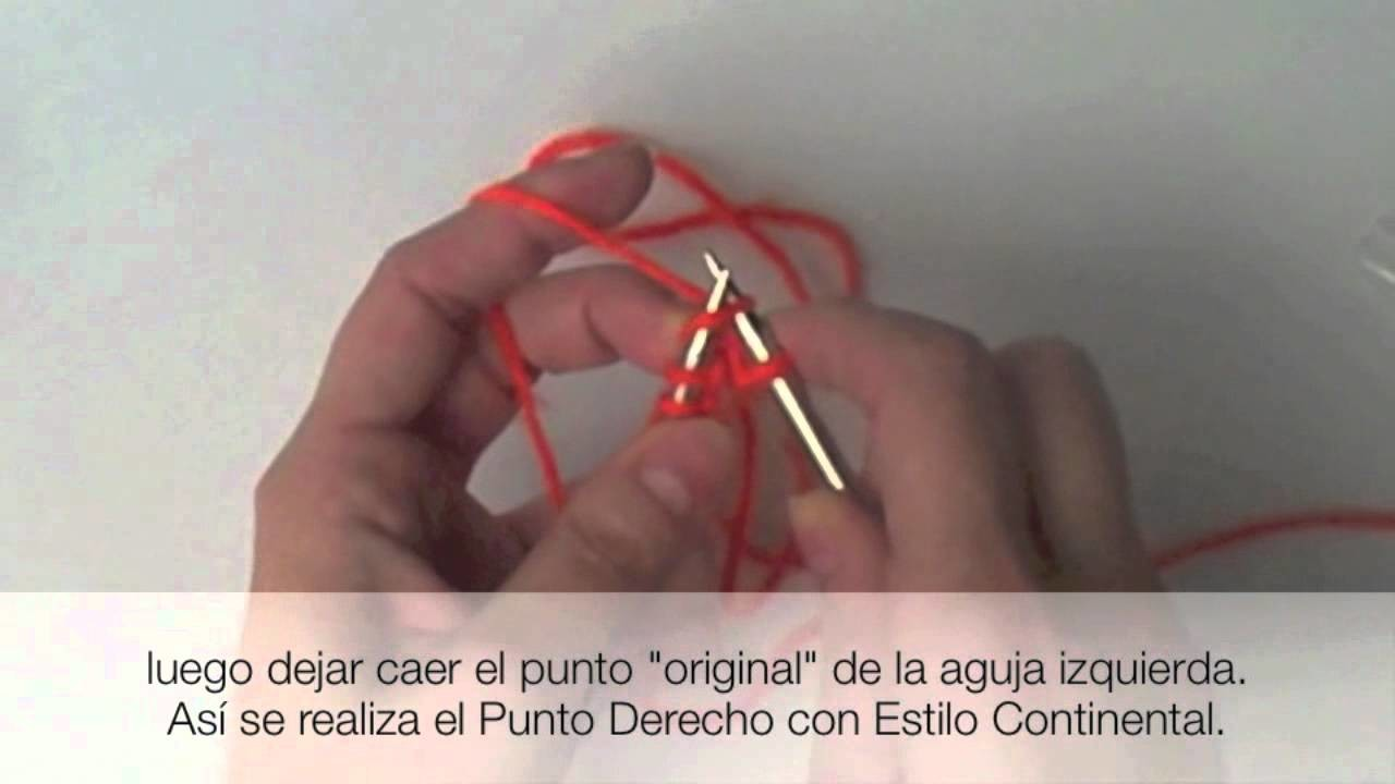 Agujas Circulares con Estilo Continental. Circular Needles Continental Method
