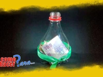 Alcancia con una Botella de Plástico