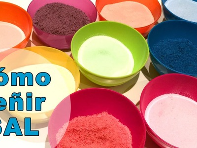 Cómo teñir sal de colores para manualidades