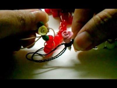 Como hacer un bello rosario para colgar en los bolsos