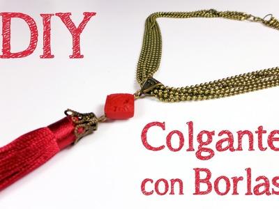 Cómo hacer un collar con borlas paso a paso - Abalorios y Manualidades