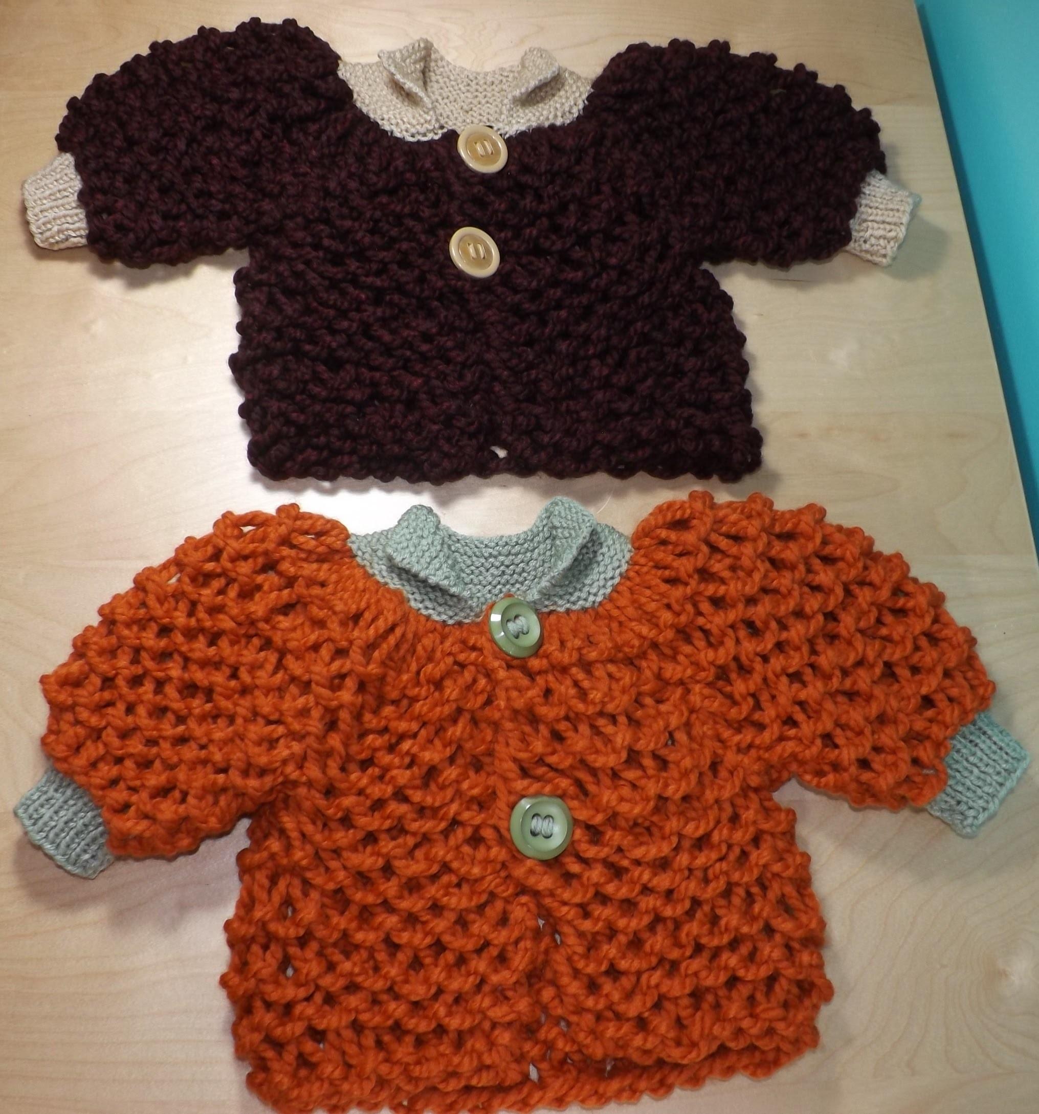 Como Tejer Un Abrigo O Suéter Para Bebe'  Con Dos Agujas
