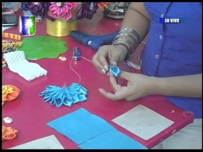 Creaciones Solyemar Proyecto Cintillo y bandana con flor en tela