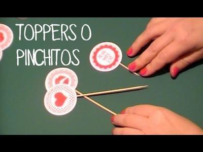 Decoración de fiestas infantiles: Toppers para cupcakes