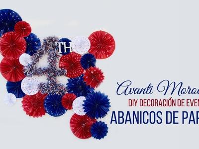 DIY Decoracion de Eventos Fiestas Patrias - Abanicos de Papel(2 parte)