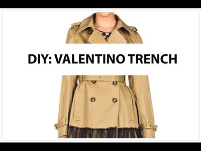 DIY Gabardina al estilo Valentino
