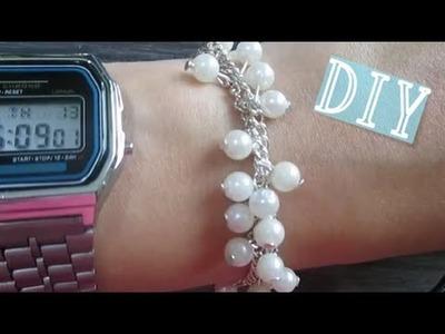 DIY pulsera de perlas fácil paso a paso.Nerea Iglesias