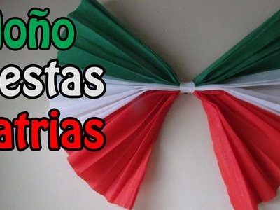 Fiestas patrias:  Moño de papel DECORATIVO (manualidad XpreSs)