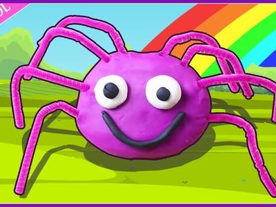 Incy Wincy de Plastilina |  How to Make  Play Doh Spider | Play Doh Creations by Hooplakidz Esapnol