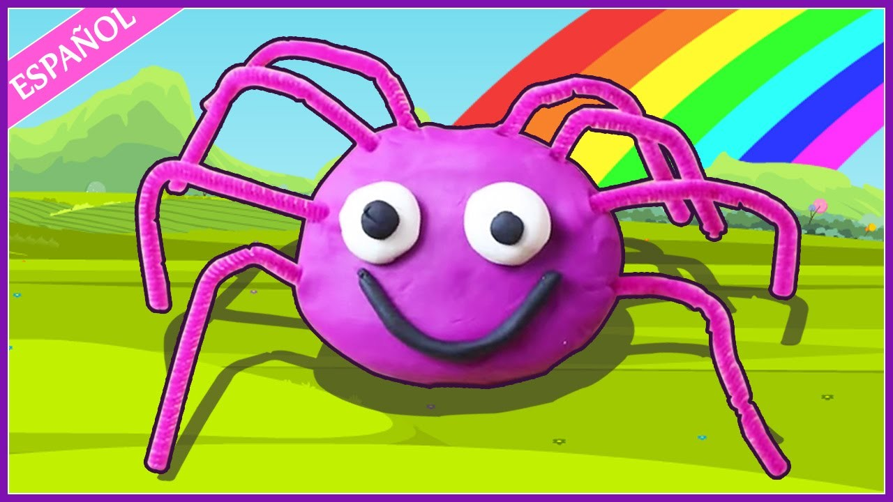 Incy Wincy de Plastilina |  How to Make  Play Doh Spider | Play Doh Creations by Hooplakidz Esapnol